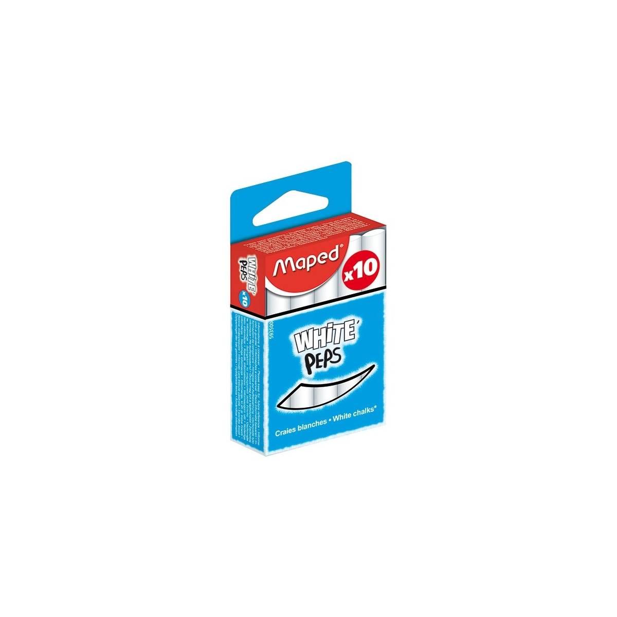 MAPED - Boite de 10 Craies Blanche