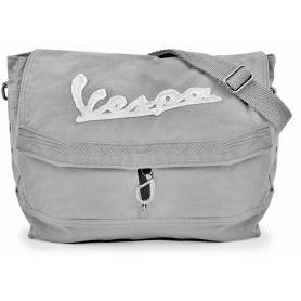 """Vespa - Sacoche Besace toile coton """"stone washed"""" Gris"""