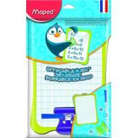 MAPED - Kit Ardoise Blanche + Porte Accessoires + Brosse + Feutre