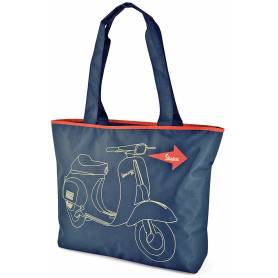 Vespa - Sac Shopping Bleu Marine