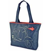 Vespa - Sac Shopping Bleu Marine