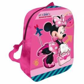 Minnie Mouse - Petit Sac à Dos Peluche 3D - 31 cm