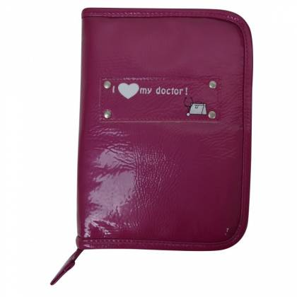 Baby On Bard - Pochette Carnet de Santé - Glossy Figue