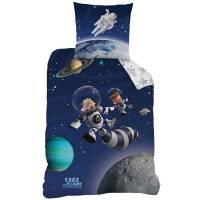 L'Age de Glace - Housse de Couette Univers 140 x 200 cm + Taie d'Oreiller 63 x 63 cm - Bleu Nuit
