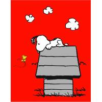Snoopy Peanuts Classic Red Fleece Blanket, 110 x 140 cm