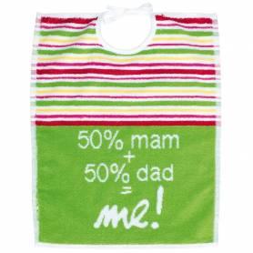 Babycalin - Bavoir Jacquard 2éme age eponge - Mam et Dad