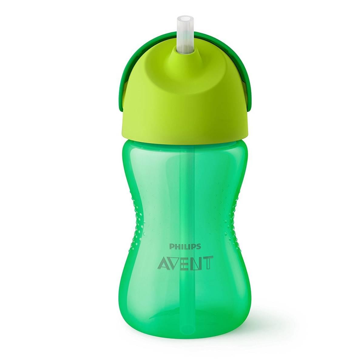 Philips Avent - Tasse Paille 300ml - Vert 12 mois +