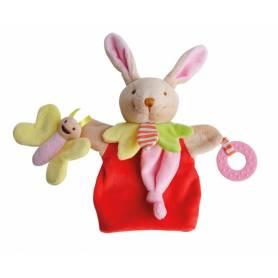 Doudou et Compagnie - Marionnette Lapin Magic avec anneau de dentition