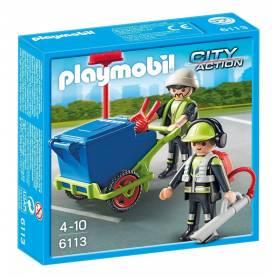 Playmobil - City Action - Equipe d'Entretien de Voirie - 6113