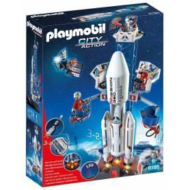 Playmobil - City Action - 6195 - Base de Lancement avec Fusée