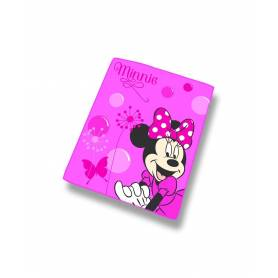 Minnie Mouse - Plaid Polaire Enfant Rose - 110 x 140 cm