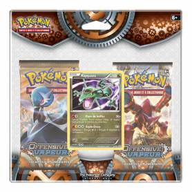 Pokémon Offensive Vapeur - Pack de 2 Boosters + Carte Promo Rayquaza