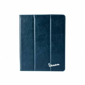 Vespa - Etui pour iPad en Cuir PU Rigide - Bleu Marine