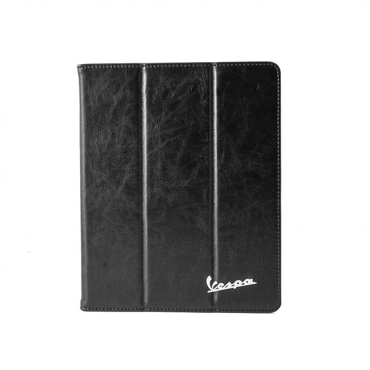 Vespa - Etui pour iPad en Cuir PU Rigide - Noir et Turquoise
