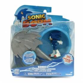 TOMY - Sonic Boom - Figurine Sonic et son Lanceur Roue