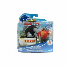 TOMY - Sonic Boom - Figurine Dr. Eggman et son Lanceur Roue