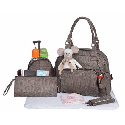 Baby On Board - Mon Croco Bag Taupe