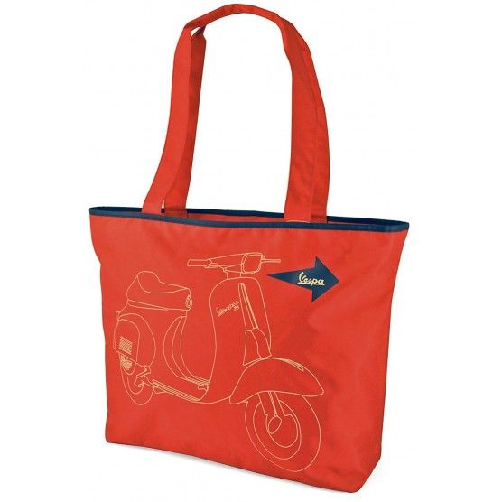 Vespa - Sac Shopping Rouge