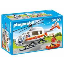 Playmobil - City Life - Hélicoptère Médical - 6686