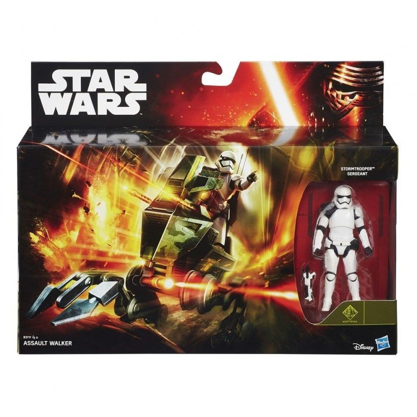 Star Wars - Véhicule Assault Walker et Figurine Stormtrooper Sergeant - B3717