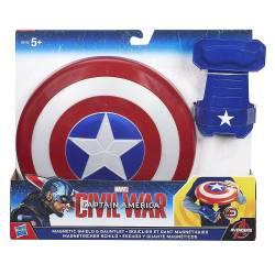 Marvel - Bouclier et Gant Magnétiques Captain America - B5782