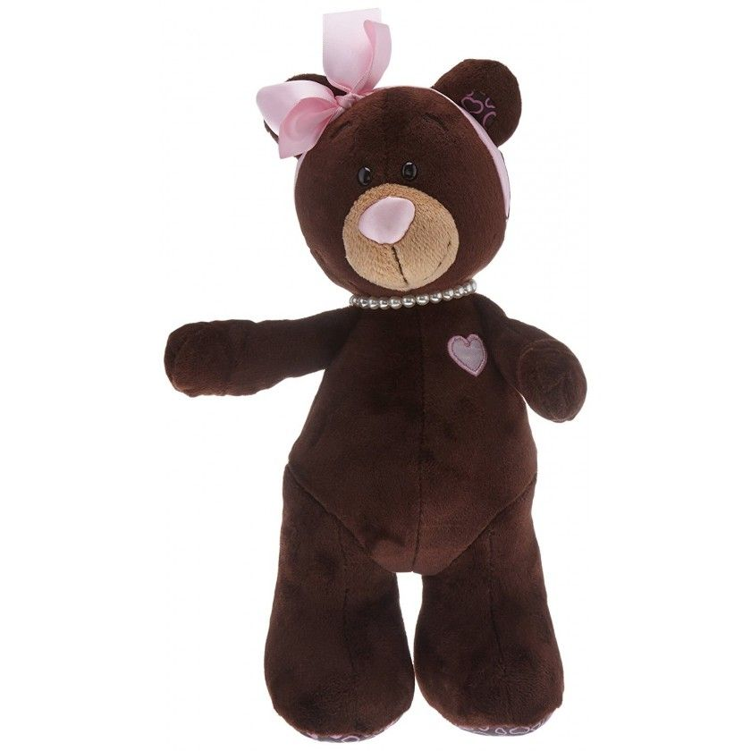 Peluche Ours Milk - 25 cm - Marron Rose