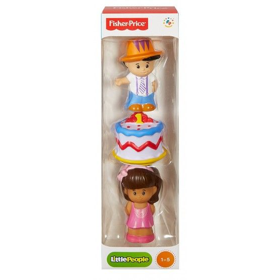 Fisher Price - Tube Figurine Little People - Anniversaire
