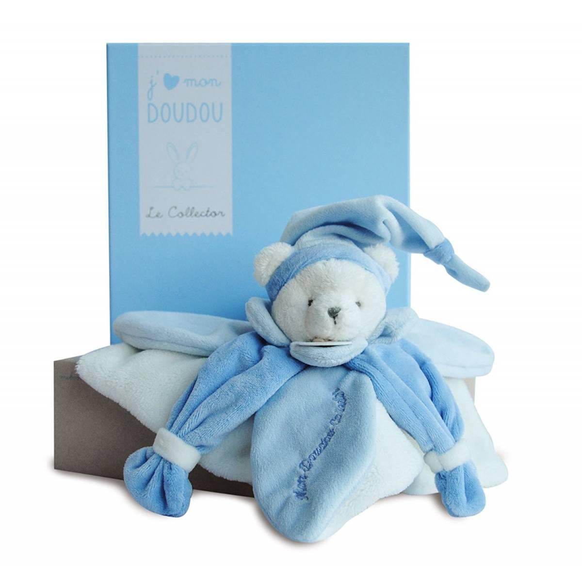 Doudou et Compagnie - J'Aime mon Doudou Collector Ours Bleu - DC2921