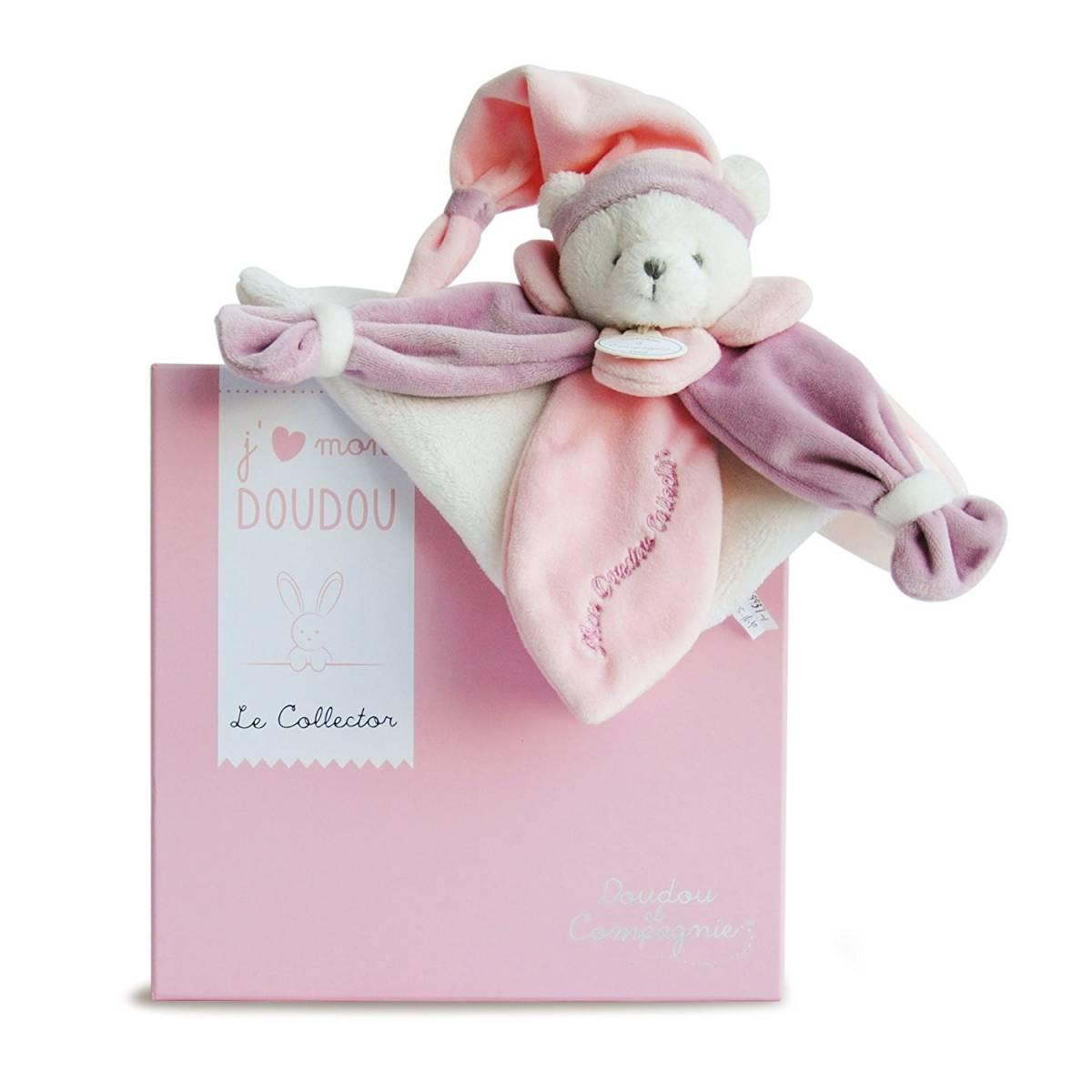 Doudou et Compagnie - J'Aime mon Doudou Collector Ours Rose - DC2920