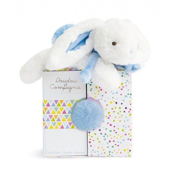 Doudou et Compagnie - Coucou Doudou Lapin Bleu Pastel - DC2821