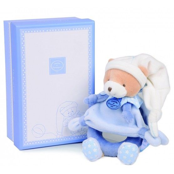 Doudou et Compagnie - Petit Chou Hochet Ours Bleu