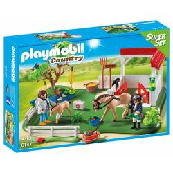 Playmobil - Country - 6147 - Super Set Paddock avec Chevaux