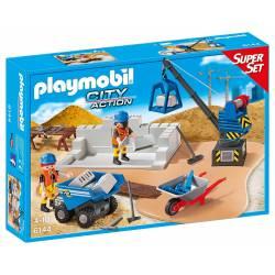Playmobil - City Action - 6144 - Super Set Chantier de Construction