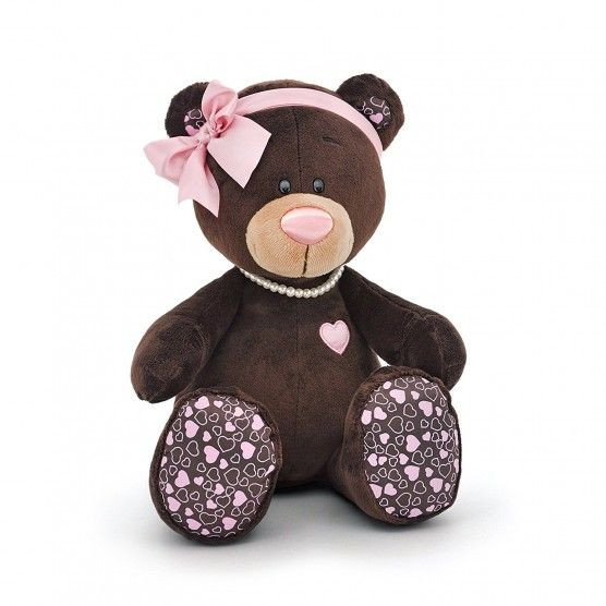 Peluche Ours Milk - 20 cm - Marron Rose