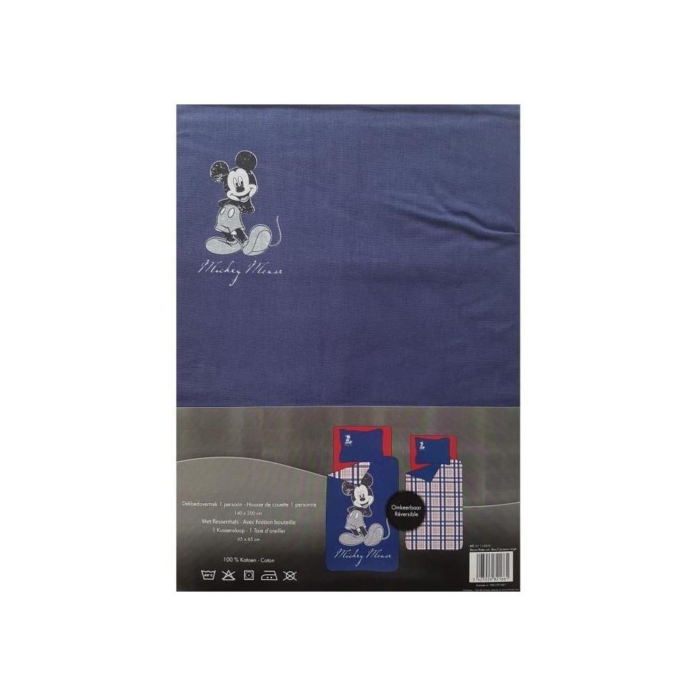 Housse De Couette Mickey Disney R Versible Bleu 1 Personne