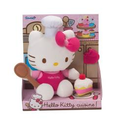 Hello Kitty - Peluche - Hello Kitty Fait la Cuisine - 27 cm