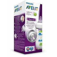 Phlips Avent - Biberon Natural Elephant - Garçon - 260 ml