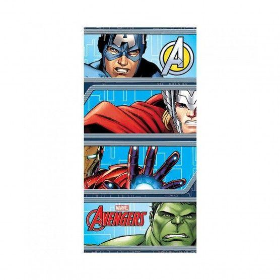 Marvel Avengers - Drap/Serviette de plage - 100% coton 140 x 70 cm