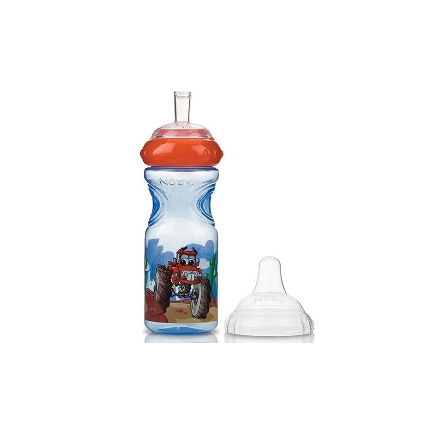 Nuby - Gobelet Anti-Goutte Sport Sipper Voiture - 300 ml - 9 mois +