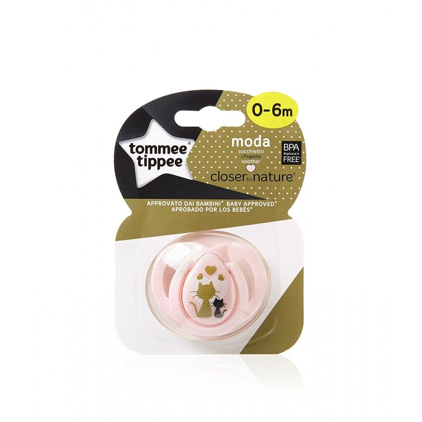 Tommee Tippee - Sucette Moda 0-6 mois - Rose