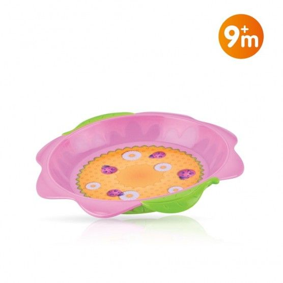 Nuby - Assiette Flower Child - 9 mois +