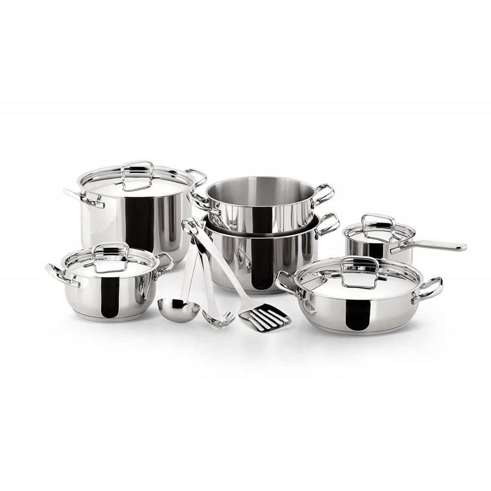 Lagostina casa batterie de cuisine en acier inoxydable - Batterie de cuisine lagostina ...