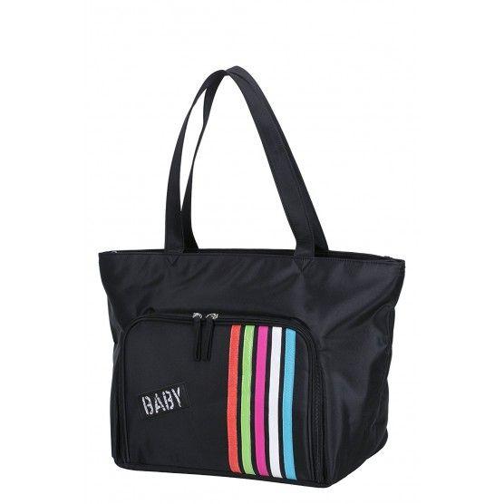 Babycalin - Sac à Langer Shopping - Noir - 40 x 20 x 33 cm