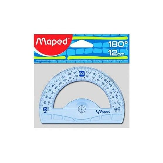 MAPED - Rapporteur 180° Base 12 cm - Geometric