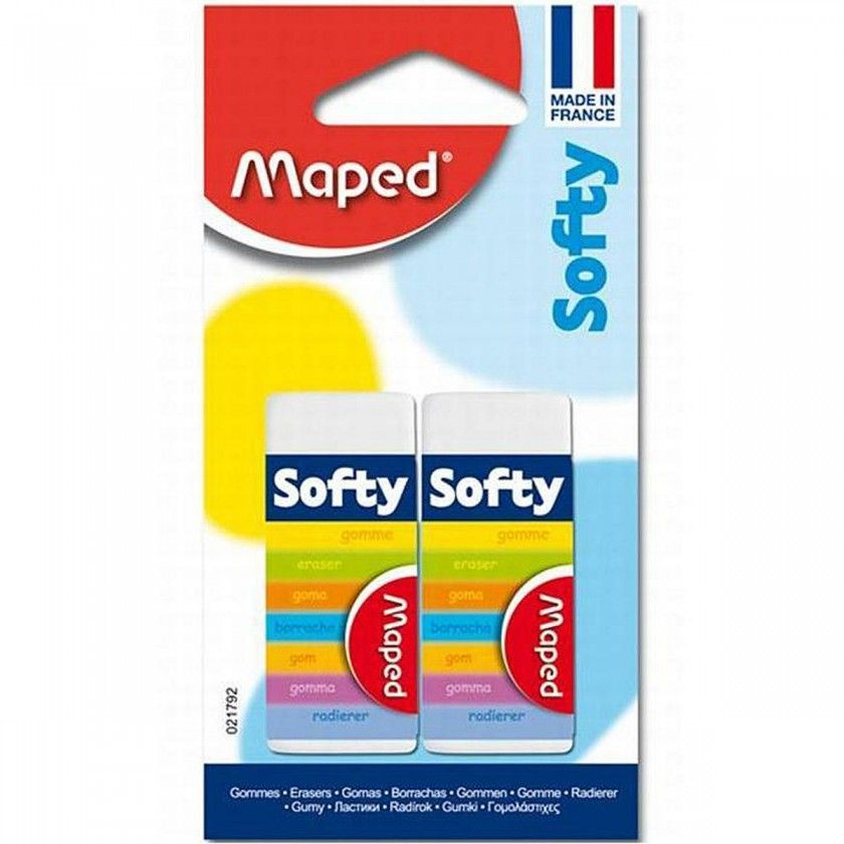 Maped - Lot de 2 Gommes Softy sous Blister