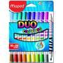 Maped - Etui de 10 Feutres Duo Color'Peps