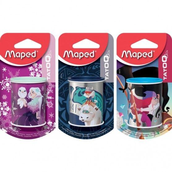 Maped - Taille Crayons Tatoo avec Réservoir 2 Trous - 3 Modèles
