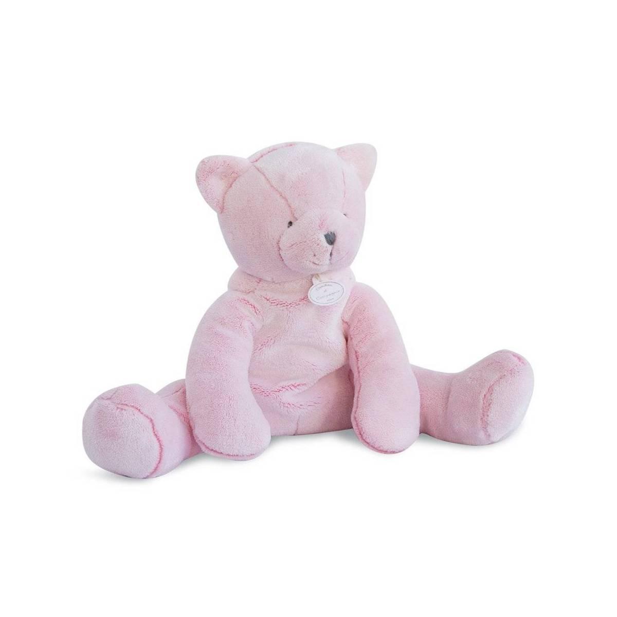 Doudou et Compagnie - J'Aime mon Doudou Chat Rose - 35 cm