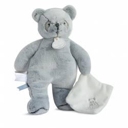 Doudou et Compagnie - J'Aime mon Doudou Pantin Panda Gris avec Doudou - 25 cm