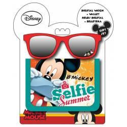 Mickey Mouse Disney - Lunettes de Soleil + Porte-Monnaie